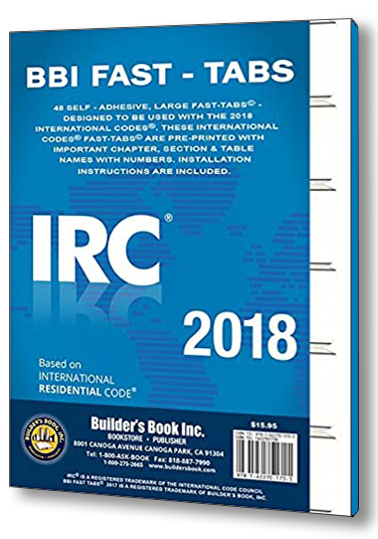 Tabs your 2018 IRC Codebook